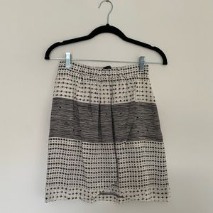 Madewell Mixed Pattern Faux Wrap Skirt